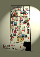 """Plan d'installation de """"La Toison dort""""- janvier 2011 - Le Générateur"""
