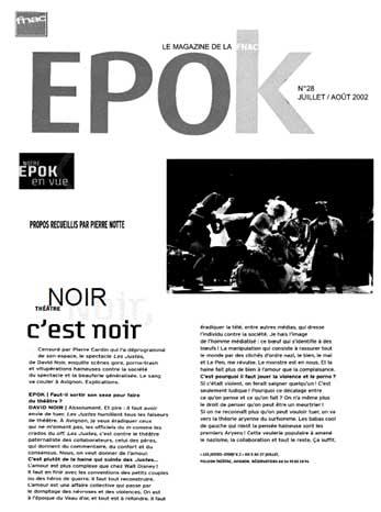 """""""Les Justes-story"""" vu par Epok"""