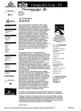 """""""Les Puritains"""" vu par Respublica"""