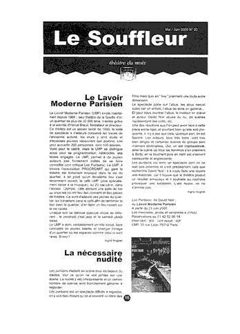 """""""Les Puritains"""" vu par Le Souffleur"""