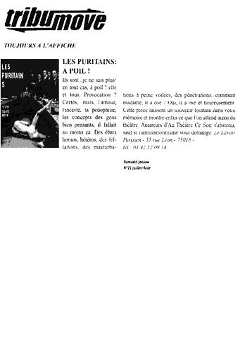 """""""Les Puritains"""" vu par tribumove"""