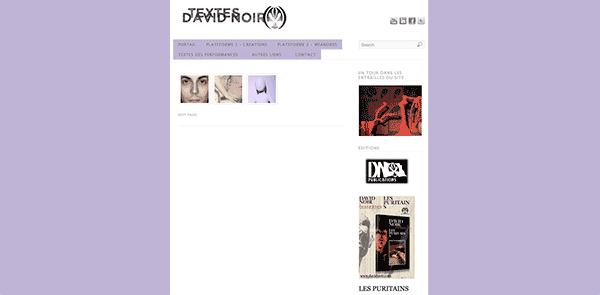 David Noir - Textes