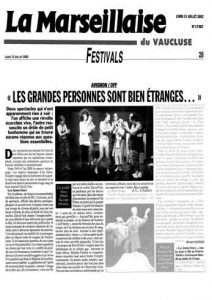 """""""Les Justes-story"""" vu par La Marseillaise"""
