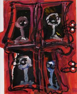Chacun a sa fenêtre - acrylique - David Noir 2009