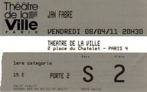 Prometheus - Jan Fabre au Théâtre de la Ville