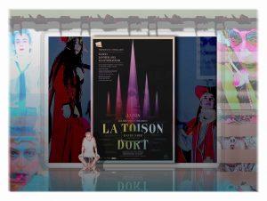 """""""La Toison Dort"""" - Performance de David Noir. Musique Christophe Imbs. Avec Valérie Brancq, Sonia Codhant, Philippe Savoir, Any Tingay et la participation du public."""
