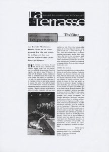 """""""Les Puritains"""" vu par La Terrasse"""