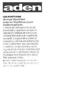 """""""Les Puritains"""" vu par Aden"""