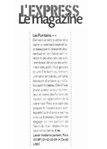 """""""Les Puritains"""" vu par L'Express le magazine"""