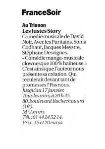"""""""Les Justes-story"""" vu par France-Soir"""