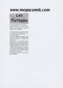 """""""Les Puritains"""" vu par megacomik.com"""