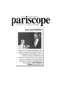 """""""Les Puritains"""" vu par pariscope"""