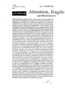 """""""Les Puritains"""" vu par Verso"""