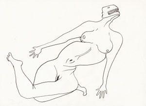 David Noir - amour tordu - dessin